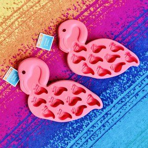Other - Set of 2 Pink Flamingo Ice Cube Tray/Molds
